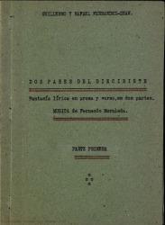 Dos pares del diecisiete : fantasía lírica en prosa y verso, en dos partes / Guillermo y Rafael Fernández-Shaw ; música de Fernando Moraleda.