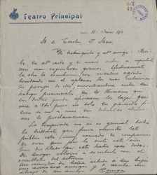 Cartas de Ricardo Puga a Carlos Fernández Shaw.