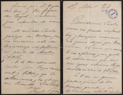 Cartas del Conde de Casa Segovia a Carlos Fernández Shaw y Cecilia Iturralde, su esposa.
