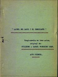 Laurel del sabio y el comediante : tragicomedia en tres actos / original de Guillermo y Rafael Fernández-Shaw.