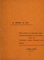 El fenómeno de Ohio : novela lírica en dieciséis capítulos, distribuidos en dos partes / libro de Guillermo y Rafael Fernández-Shaw ; música...