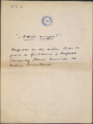 ¡Adiós, amigos! : zarzuela en dos actos / libro en prosa de Guillermo y Rafael Fernández Shaw ; música de Arturo Somohano.