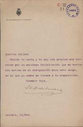 Cartas del Duque de Tovar a Carlos Fernández Shaw.