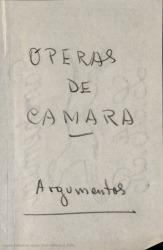 """Argumento de """"La maja y los enamorados"""" : (aguafuerte goyesco) : ópera de cámara en un cuadro / Guillermo y Rafael Fernández-Shaw ; música de F. Moreno Torroba."""