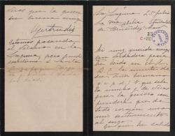 Cartas de Gertrudis Segovia, hija del Conde de Casa Segovia, a Carlos Fernández Shaw y Cecilia Iturralde, su esposa.