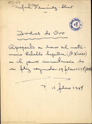 Bodas de oro : apropósito en honor del matrimonio Cabello Lapiedra (D. Xavier) en el primer cincuentenario de su feliz coyunda, 19 febrero 1897-1947 / Rafael Fernández-Shaw.