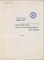 Marichu : estampa vasca / letra de Manuel Palomar ; música de los maestros Adolfo Wagener y Antonio L. Quiroga.