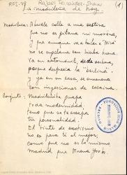 La madrileña de hoy / letra de Rafael Fernández-Shaw ; música de José L. Rivera.