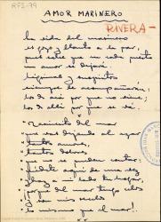 Amor marinero / letra de Rafael Fernández-Shaw ; música de José L. Rivera.
