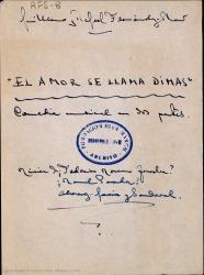 El amor se llama Dimas : comedia musical en dos partes / Guillermo y Rafael Fernández-Shaw.