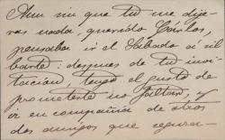 Cartas de Antonio Cánovas y Vallejo a Carlos Fernández Shaw.