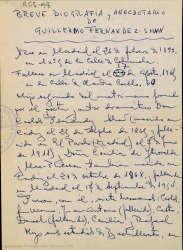 Breve biografía y anecdotario de Guillermo Fernández-Shaw / Rafael Fernández-Shaw.
