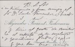 Cartas de Alejandro Ferrant Fischermans a Carlos Fernández Shaw.