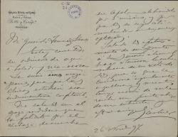Cartas de José Gartner a Carlos Fernández Shaw.