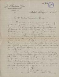 Cartas de José Martínez Garí a Carlos Fernández Shaw.