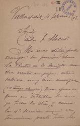 Cartas de Eugenio Cannes a Carlos Fernández Shaw.