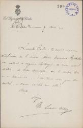 Cartas de Manuel Linares Rivas a Carlos Fernández Shaw y Cecilia Iturralde, su esposa.