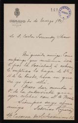 Cartas de Federico Reparaz a Carlos Fernández Shaw.