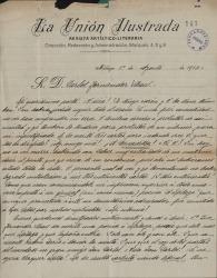 Cartas de José Fernández del Villar a Carlos Fernández Shaw.
