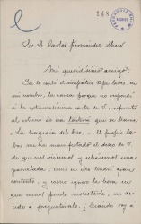 Cartas de Julio Pellicer a Carlos Fernández Shaw.