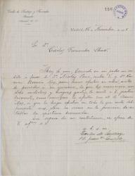 Cartas de Carlos de Santiago y Fernández a Carlos Fernández Shaw.