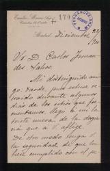 Cartas de Emilio Mario (hijo) a Carlos Fernández Shaw.