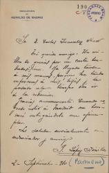Cartas de José López Pinillos (Pármeno) a Carlos Fernández Shaw.