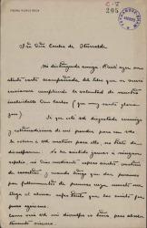 Cartas de Pedro Muñoz Seca a Cecilia Iturralde, viuda de Carlos Fernández Shaw.