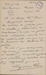 Cartas de Leopoldo Cano a Carlos Fernández Shaw.