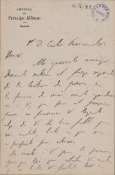 Cartas de Jacinto Benavente a Carlos Fernández Shaw.