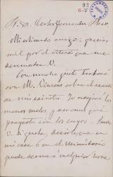 Cartas de Ricardo de la Vega a Carlos Fernández Shaw.