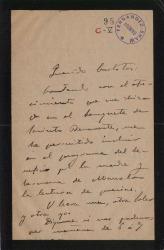 Cartas de Joaquín Dicenta a Carlos Fernández Shaw.