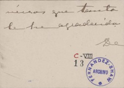 Cartas de la Marquesa de Squilache a Carlos Fernández Shaw.