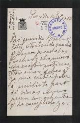 Cartas de María de Pickman y Rosario de Pickman a Carlos Fernández Shaw.