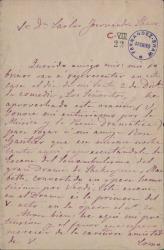 Cartas de Elisa de Luxán a Carlos Fernández Shaw.