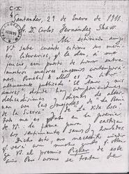 Cartas de Marcelino Menéndez Pelayo a Carlos Fernández Shaw.
