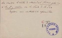 Cartas del Sr. y la Sra. Fastenrath a Carlos Fernández Shaw.