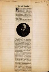"""Cuaderno 10 (1908-1909). Crónicas periodísticas y críticas sobre """"Margarita la Tornera""""."""