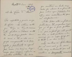 Cartas de Bartolomé Pérez Casas a Carlos Fernández Shaw.