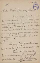 Cartas de Emilio Serrano a Carlos Fernández Shaw.