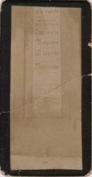 """Fotografía del cartel del Teatro Apolo en el que figura la obra """"Las bravías"""" de Carlos Fernández Shaw y José López Silva, música de Ruperto Chapí."""