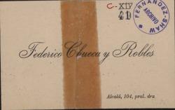 Cartas de Federico Chueca a Carlos Fernández Shaw.