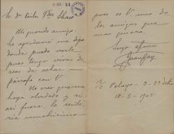 Cartas de Juan Gay a Carlos Fernández Shaw.
