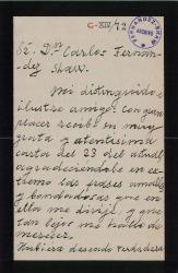 Cartas de José Tragó a Carlos Fernández Shaw.