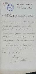 Cartas de Felipe Pedrell a Carlos Fernández Shaw y Manuel de Falla.