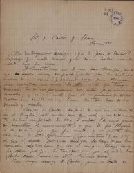 Cartas de Arturo Lapuerta a Carlos Fernández Shaw.