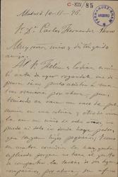 Cartas de Manuel Nieto a Carlos Fernández Shaw.
