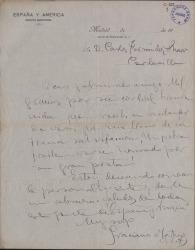 Cartas del Padre Graciano Martínez a Carlos Fernández Shaw.