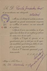 Cartas de Salvador González Anaya a Carlos Fernández Shaw.