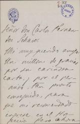 Cartas de Jacinto Octavio Picón a Carlos Fernández Shaw.